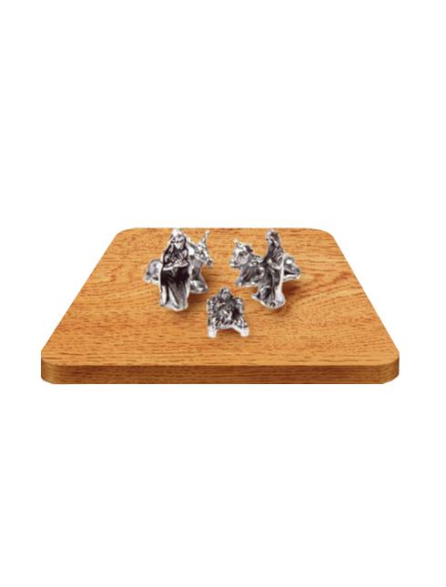 Composizione di pastori in metallo