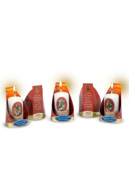 Confezione in cartoncino con candela