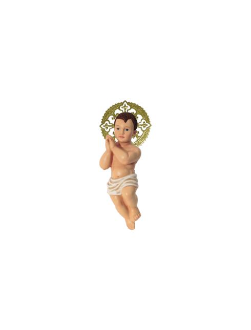 Bambino Gesù Bethlem in resina dipinti a mano