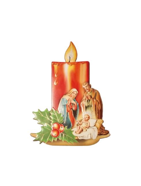 """Quadretto """"candela con sacra famiglia"""""""