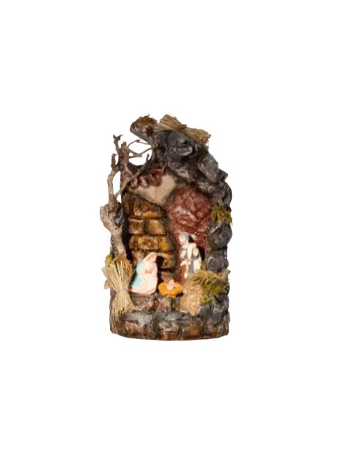 Presepe in terracotta dipinti a mano