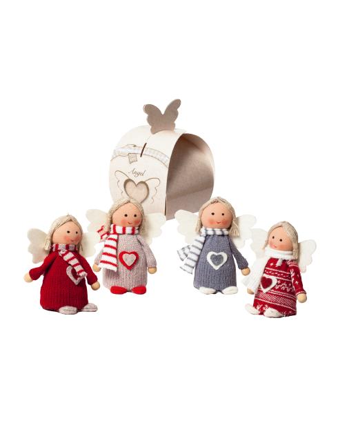 Angeli in stoffa con scatola