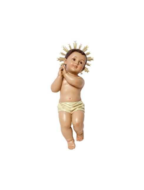 Bambino Gesù Bethlem in resina dipinto a mano