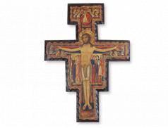 Croce San Damiano in legno massello