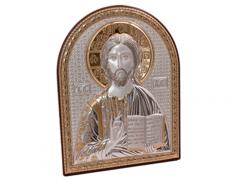Quadretto in legno con placca in argento  bilaminato con dettagli dorati